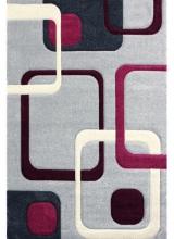 [Kusový koberec Rumba 5280 L.Grey / Malina]