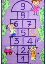 [Dětský kusový koberec Školka Purple 941]