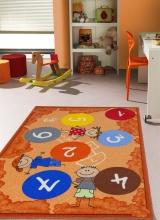 [Dětský kusový koberec Twister 921 Oranžový]