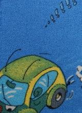 [Dětský metrážní koberec TRAVEL 74 modrý]
