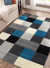 [Kusový koberec Rumba 8783 Grey Turqoise]