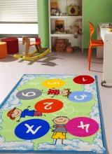 [Dětský kusový koberec Twister 962 Zelenomodrý]