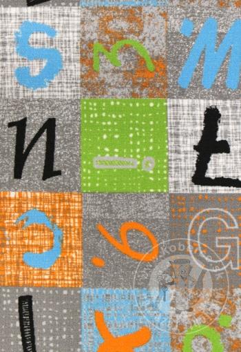 Dětský metrážový koberec ALPHABET 129