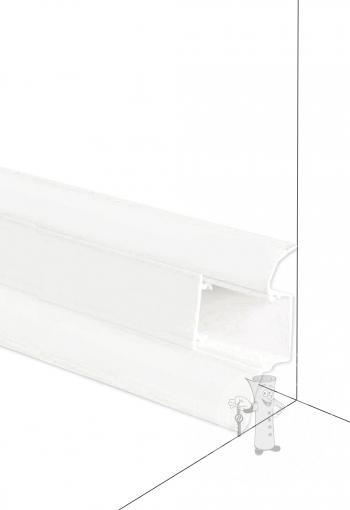 Podlahová lišta DOLLKEN W117 Bílá