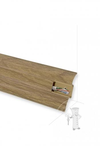 Podlahová lišta KORNER Perfecta 25-60-0-128 Dub Brečtanový