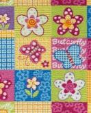 [Dětský metrážový koberec Butterfly 57]